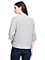 Kurzer Kaschmir-Pullover mit 3/4-Ärmeln für Damen in Normalgröße