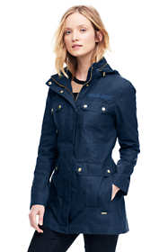 Women's Petite Cotton Utility Coat