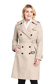 5d198956bf1 Women s Plus Size Cotton Long Trench Coat