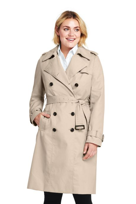 Women's Plus Size Cotton Long Trench Coat