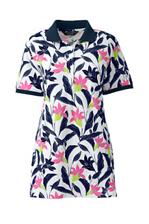 Women's Short Sleeve Print Pique Polo