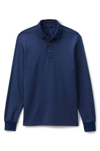 Men's Herringbone Jacquard Supima Polo Shirt