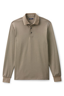 Men's Herringbone Jacquard Supima Polo