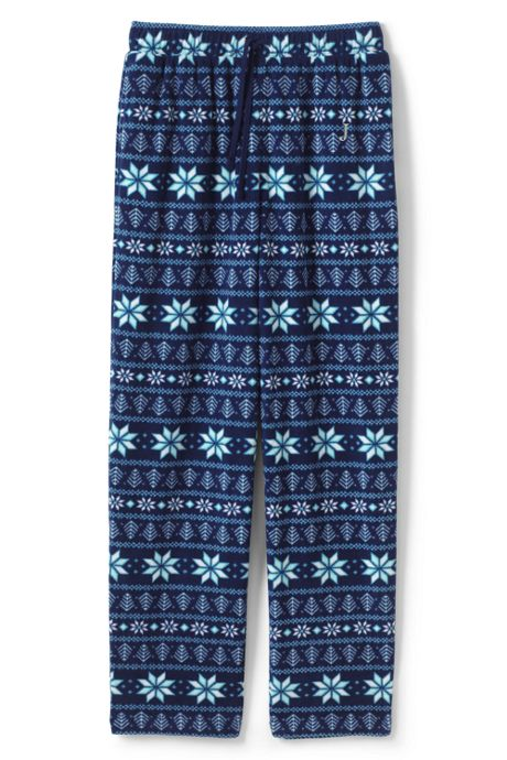 Men's Tall Print Fleece Pajama Pant