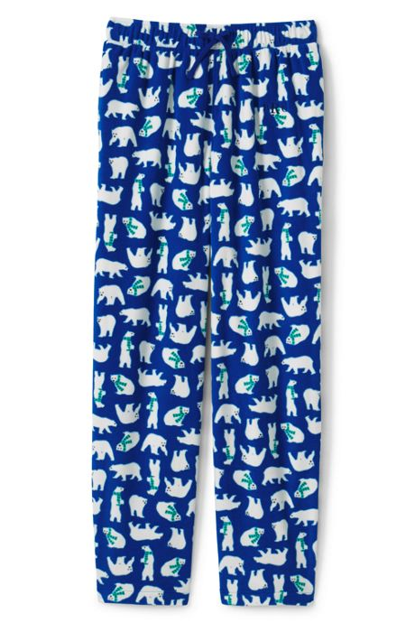 Men's Print Fleece Pajama Pants