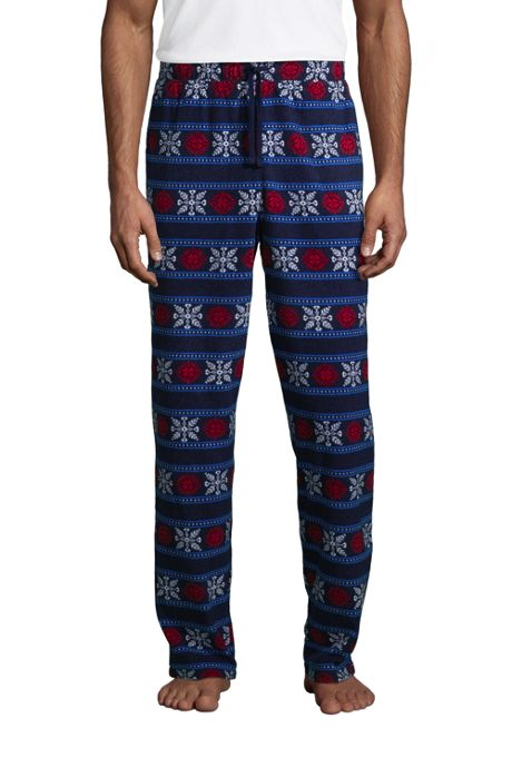 Men's Print Fleece Pajama Pants