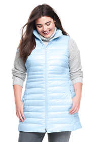 Women's Plus Size Petite Lightweight Down Tunic Vest