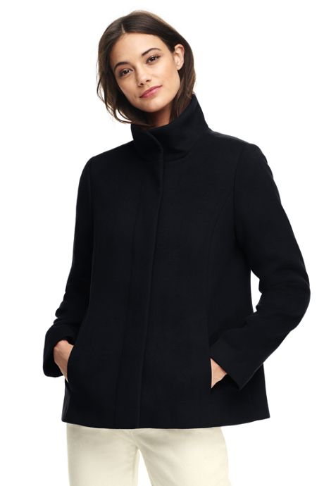 Women's Petite Lightweight Collar Fleece Jacket