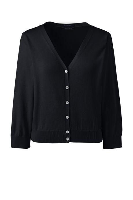 Women's 3/4 Sleeve Supima Cardigan Sweater