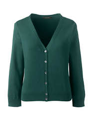 Women's Tall 3/4 Sleeve Supima Cardigan Sweater