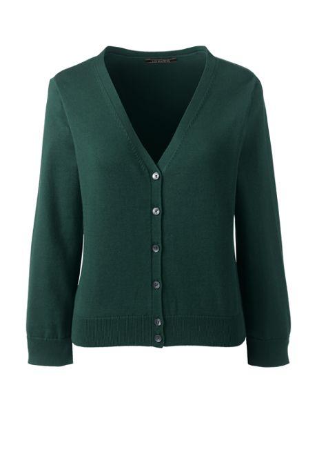 ad8bbcea9f Women s Tall 3 4 Sleeve Supima Cardigan Sweater
