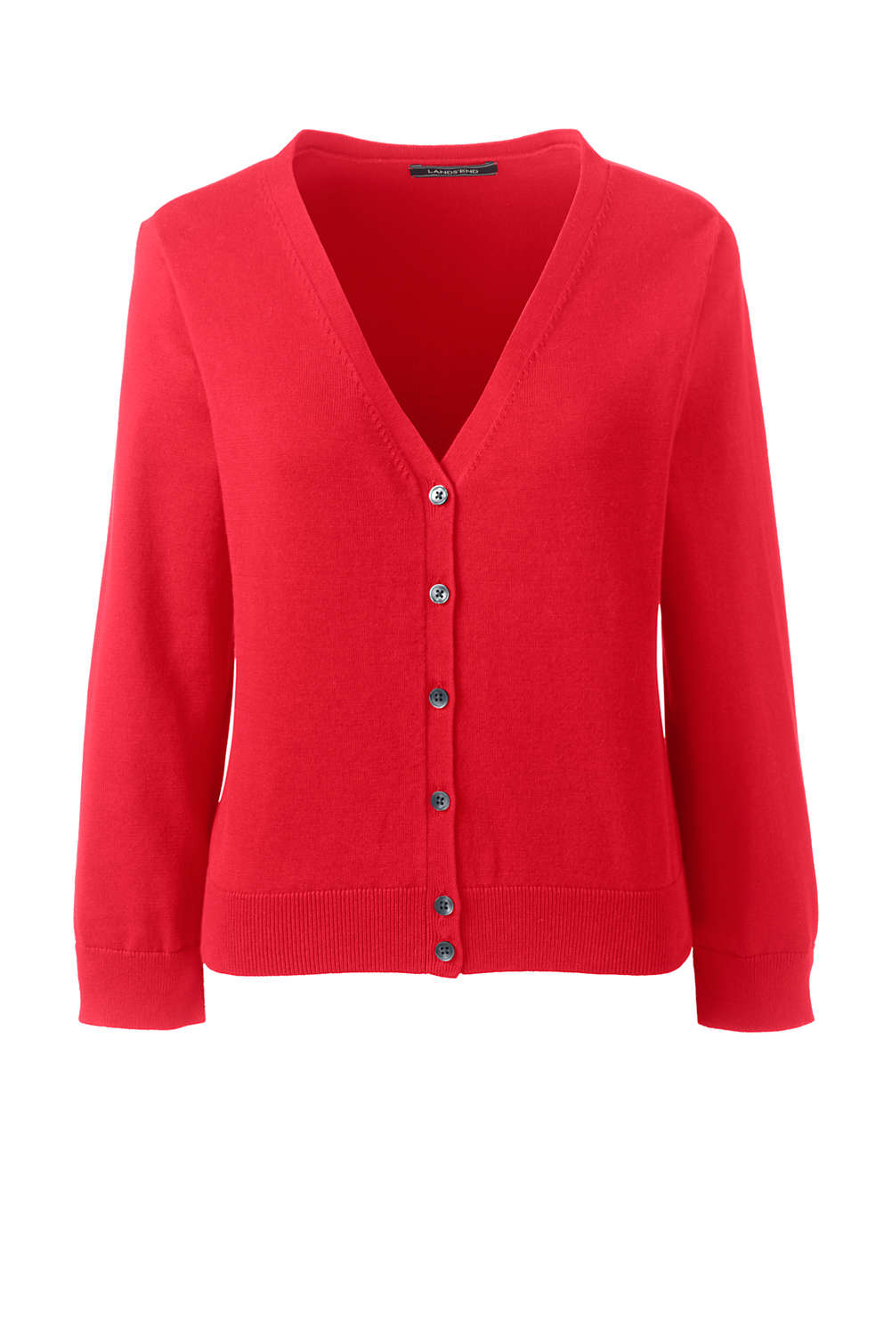 bc61623e31 Women s 3 4 Sleeve Supima Cardigan Sweater from Lands  End