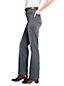 Women's Grey High Waisted Jeans, Straight Leg