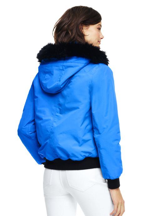 Women's Petite Squall Hooded Bomber