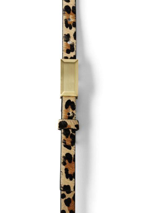 Women's Leopard Calf Hair Belt