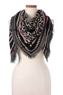 Women's Animal Print Jacquard Scarf