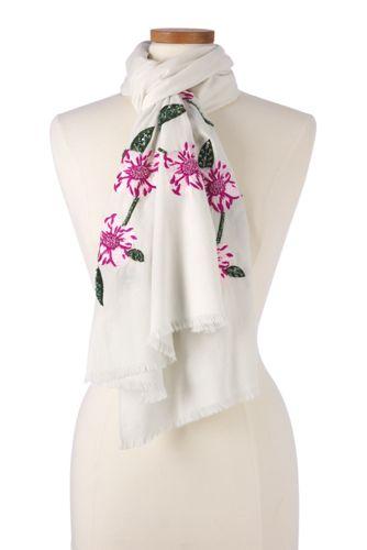 Le Foulard à Broderies Florales, Femme