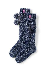 Women's Braided Hand Knit Slipper Socks