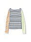Little Girls' Stripe/Graphic Boatneck Jersey Top