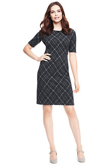 Women's Jacquard Ponte Jersey Shift Dress