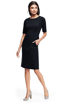 Women's Elbow Sleeve Ponte Sheath Dress