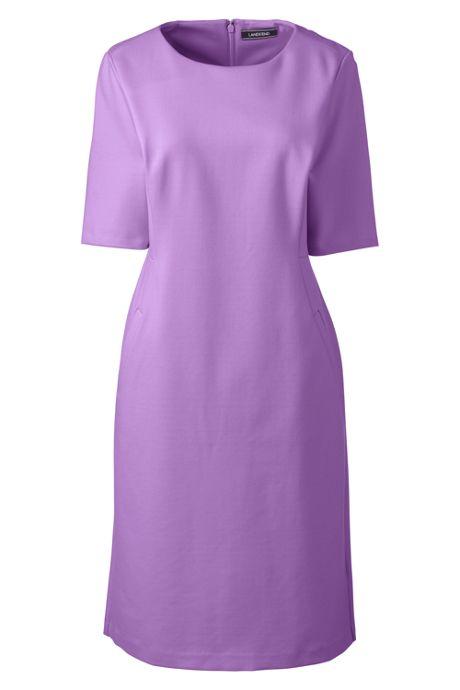 Women's Ponte Knit Short Sleeve Sheath Dress