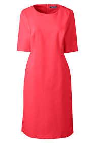 Women's Plus Size Ponte Knit Sheath Dress with Elbow Sleeves
