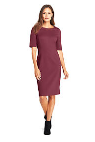 5b26ea90b9 Women's Ponte Knit Sheath Dress with Elbow Sleeves