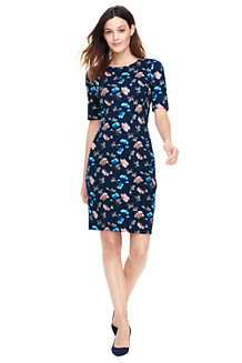 Women's Pattern Ponte Jersey Shift Dress