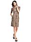 La Robe Fourreau à Motifs et Manches aux Coudes, Femme Stature Standard