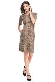 Women's Elbow Sleeve Ponte Sheath Dress