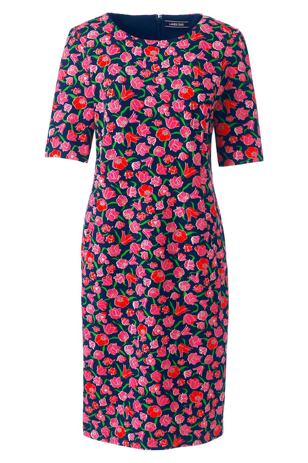 Women S Elbow Sleeve Ponte Sheath Dress