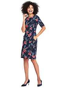 4831980559 Women's Elbow Sleeve Ponté Sheath Dress