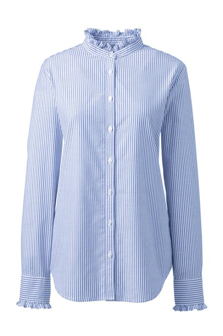Women's Petite Ruffle Oxford Shirt