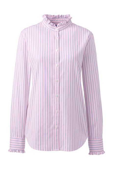 Women's Ruffle Oxford Shirt