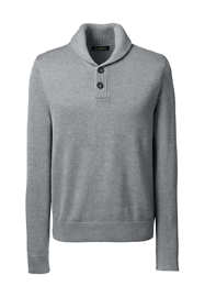 Men's Big Cotton Modal Shawl Collar Pullover Sweater