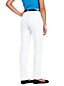 Le Jean Droit Blanc Stretch Taille Mi-Haute, Femme Stature Standard