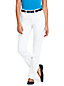 Women's White Jeans - Mid Rise True Straight Fit