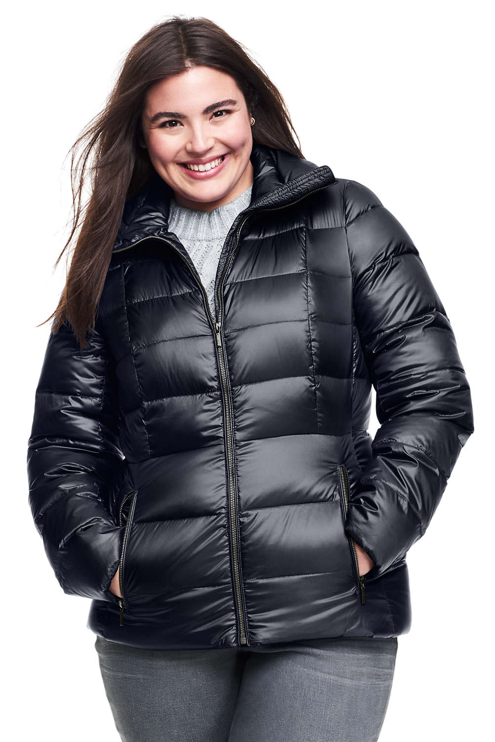 30bf9e5d40f Women s Lightweight Down Jacket from Lands  End
