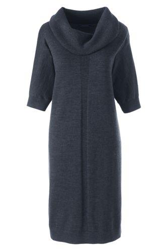 La Robe Pull en Laine Mérinos Col Boule, Femme Stature Standard