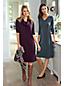 La Robe Pull en Fine Maille Supima, Femme Stature Standard