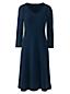 Tailliertes Supima Feinstrick-Kleid für Damen in Normalgröße