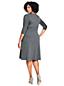 Tailliertes Supima Feinstrick-Kleid für Damen in Plusgröße