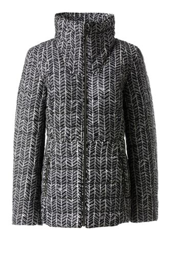 Women's Plus Funnel Neck PrimaLoft Patterned Packable Jacket