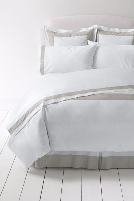 300 Supima Percale Border Pillowcases