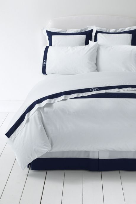300 Supima Percale Border Sheet Set