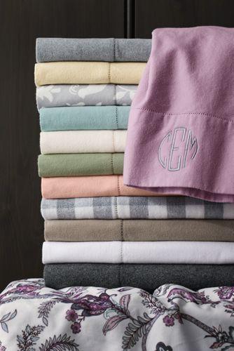 6oz Supima Flannel Heather Pillowcases