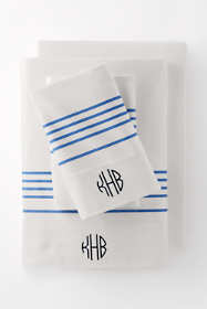 6oz Supima Flannel Printed Stripe Pillowcases