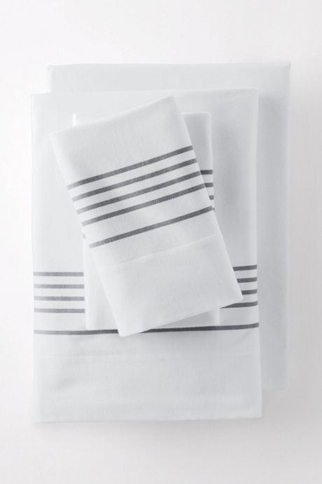 6oz Supima Flannel Printed Stripe Pillowcases