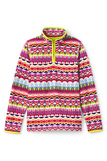 Girls' Thermacheck-100 Printed Fleece Half-zip Pullover